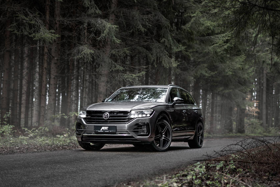 Volkswagen's Touareg TDI SUV on the road