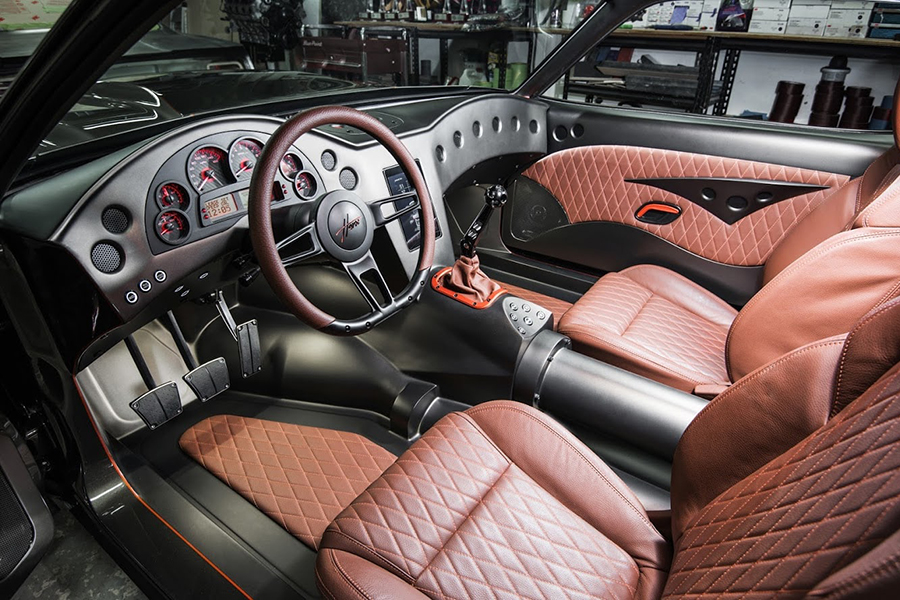 '70 Challenger 2,500HP dashboard and steering wheel