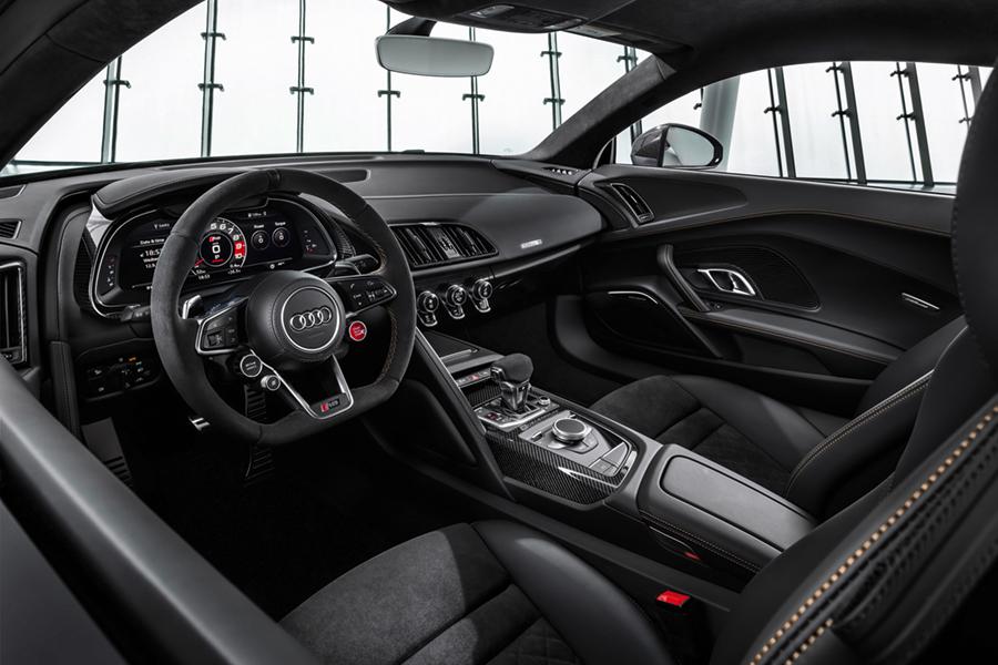 audi r8 decennium dashboard and steering wheel
