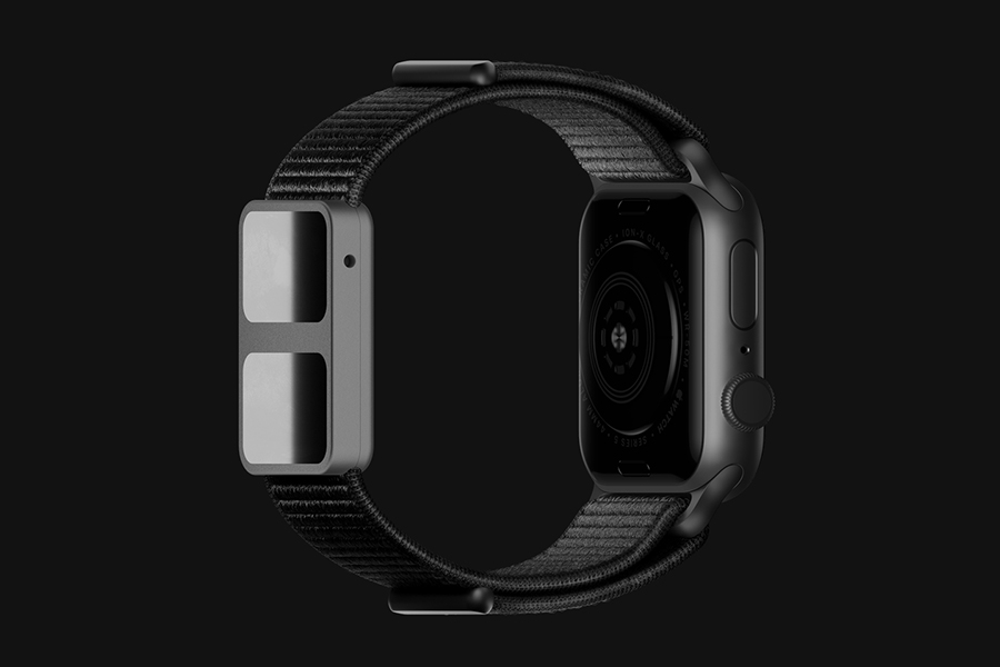 apple watch back view
