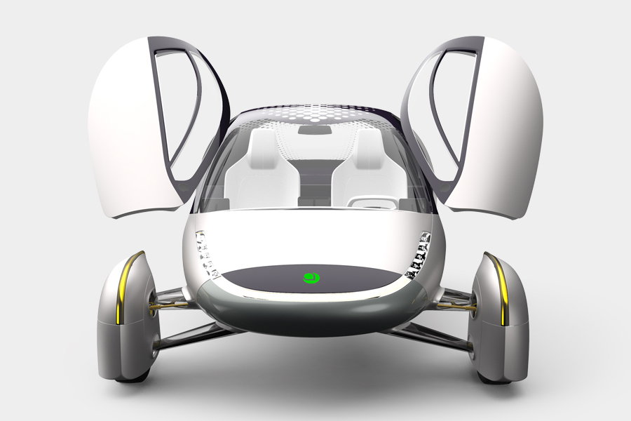 Aptera Motors' Solar-Powered EV front view