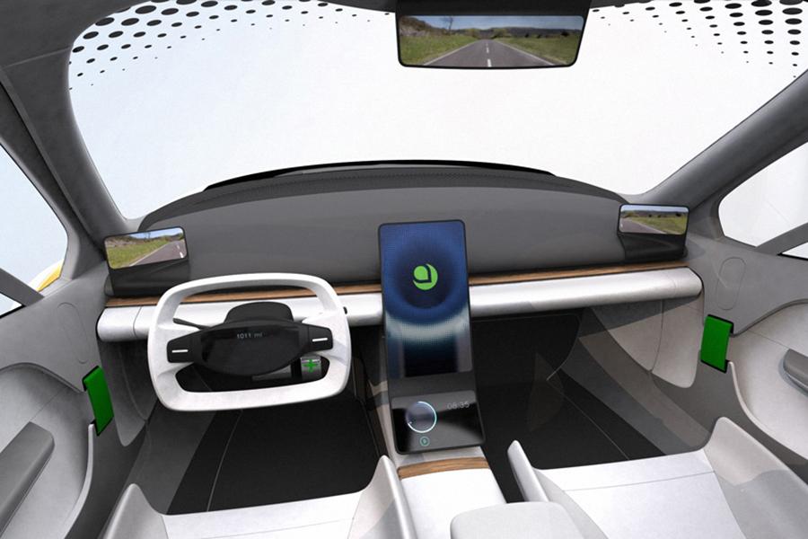 Aptera Motors' Solar-Powered EV dashboard