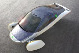 Aptera Motors' Solar-Powered EV side view