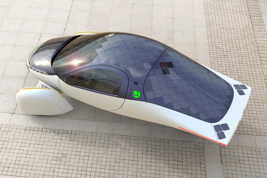 Aptera Motors' Solar-Powered EV front