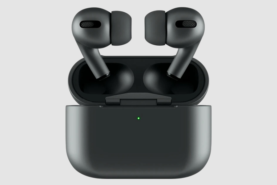 Black Apple Airpods and case