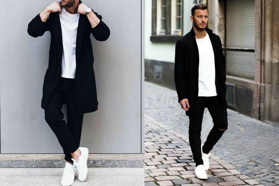 to Wear White Shoes with Black Jeans