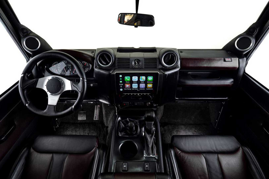 corvette defender dashboard and steering wheel