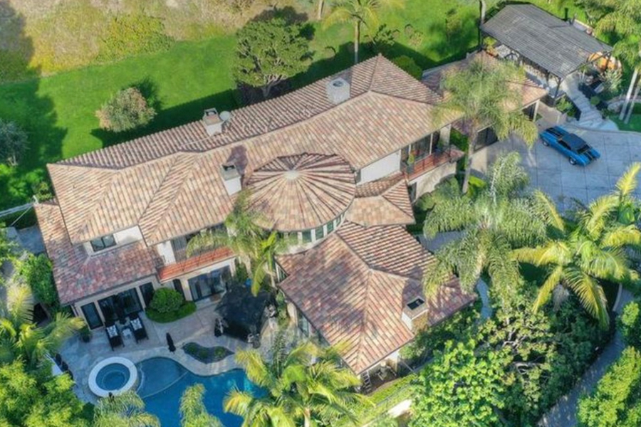 aerial view of Dr. Phil's House