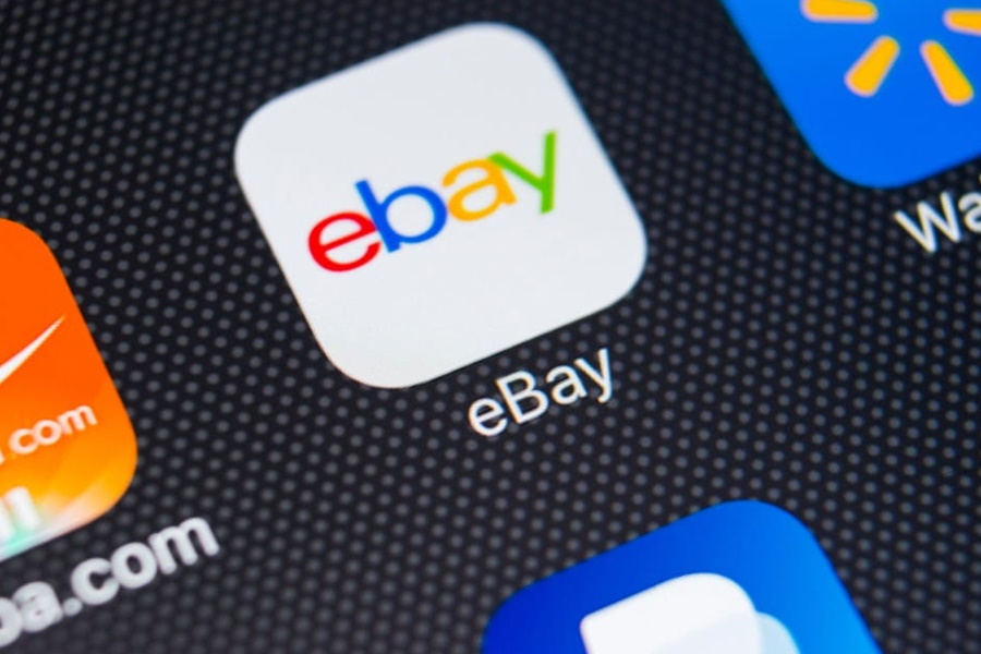 eBay app icon on a screen