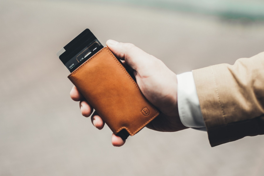 ekster smart leather wallet