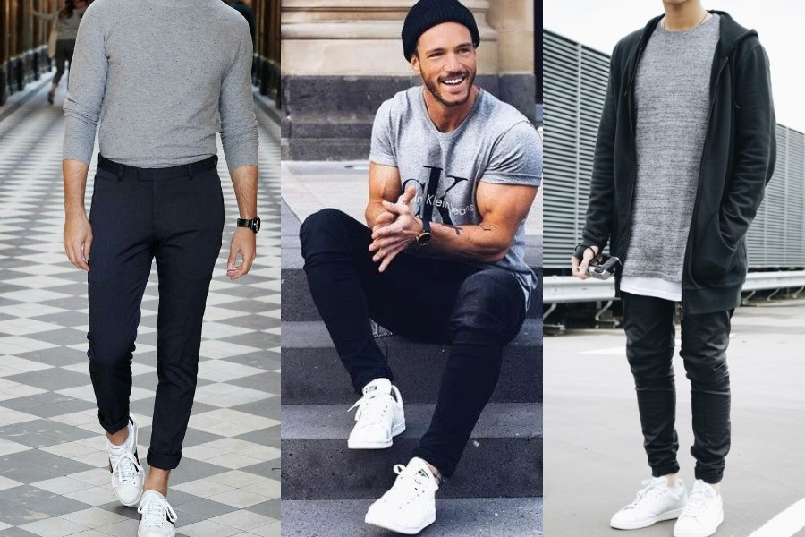 How to Wear White Shoes with Black Jeans | Man of Many