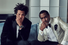 Jay Z wearingPatek Philippe Watch and Diddy next to him