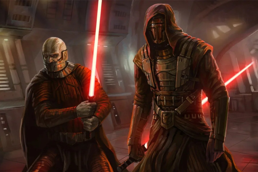 A screen from Knights of the Old Republic