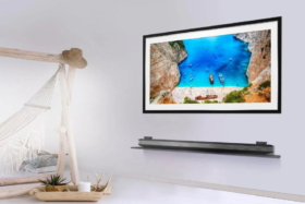 LG Gallery Series TV on a wall