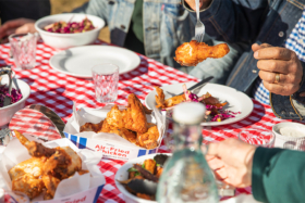 Air-Fried Chicken on table with other dishes
