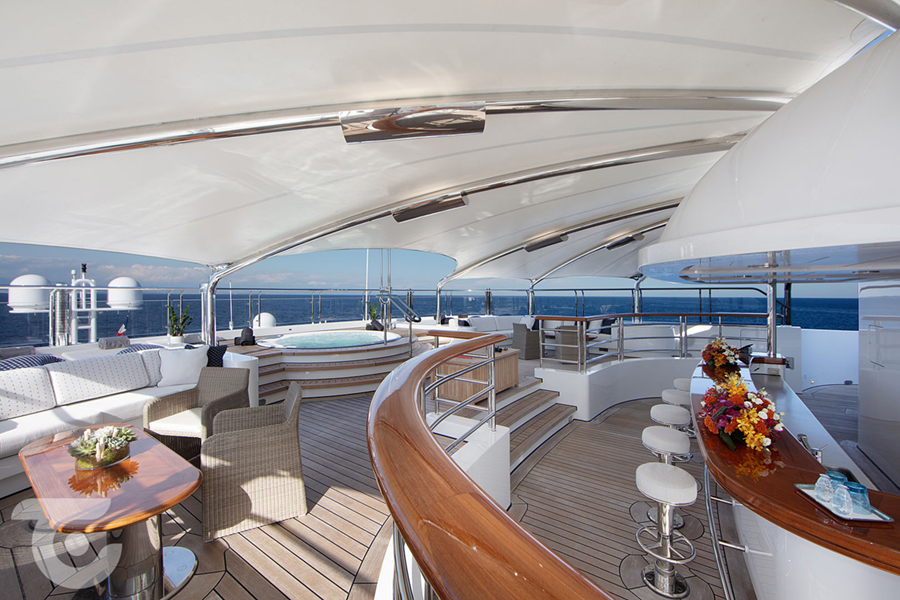 lounge in Octopus Superyacht