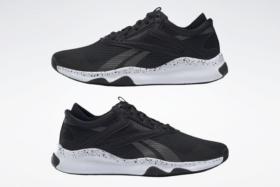 Sides of black Reebok HIIT Sneakers