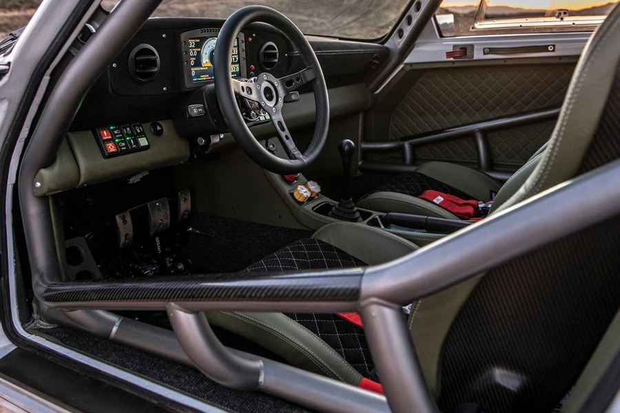 Russell Built Porsche 911 dashboard and steering wheel