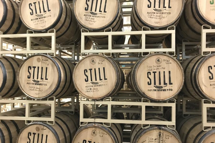 Still Austin Distillery barrels