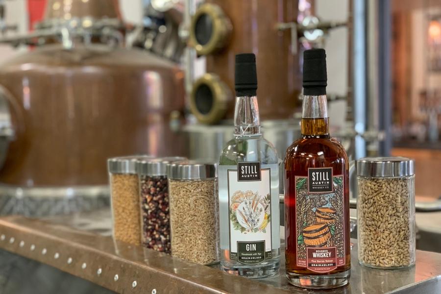 Still Austin Whiskey and gin