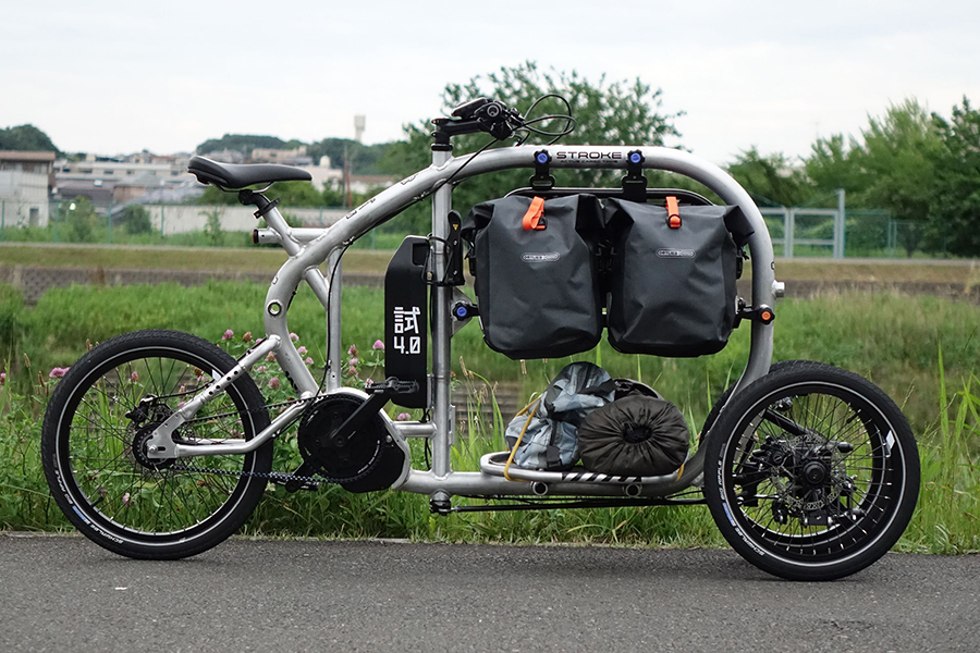 Stroke Cargo Trike park on the road
