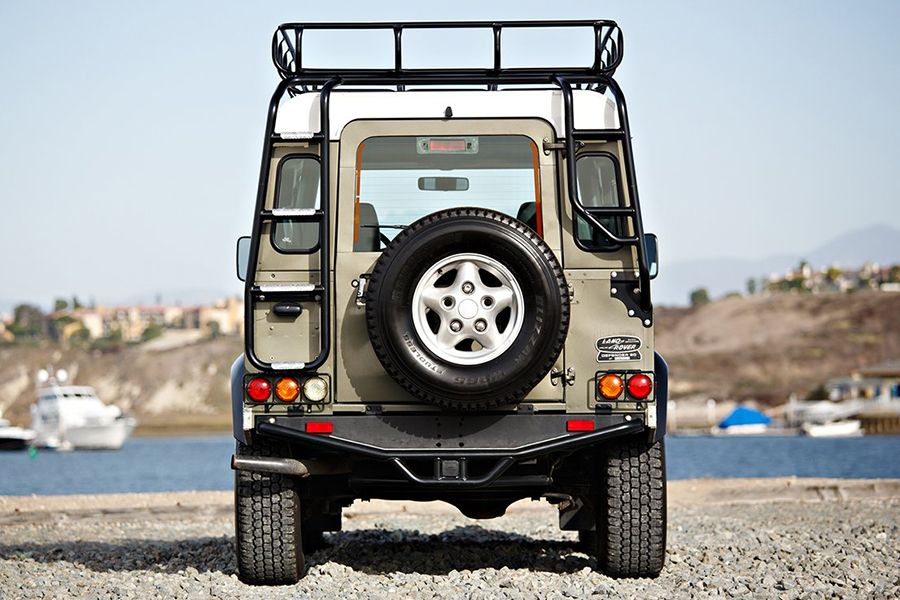 land rover NAS defender back view