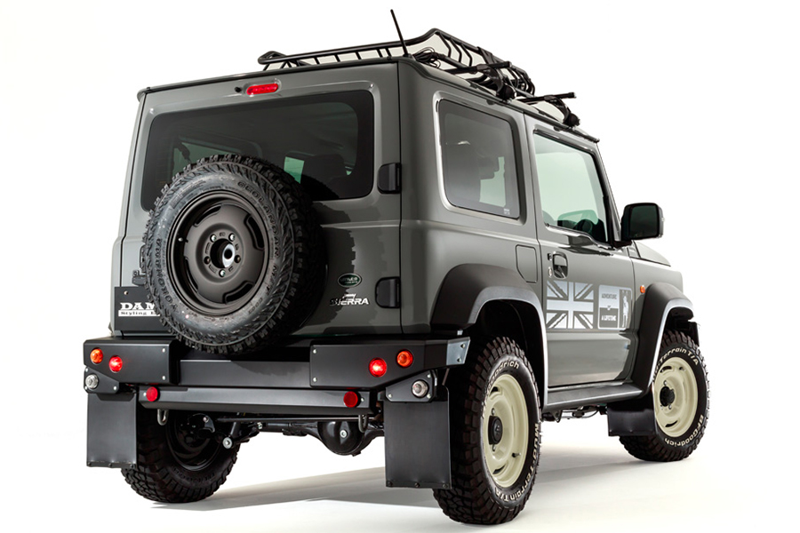 The Jimny 'little d' bodykit for a defender