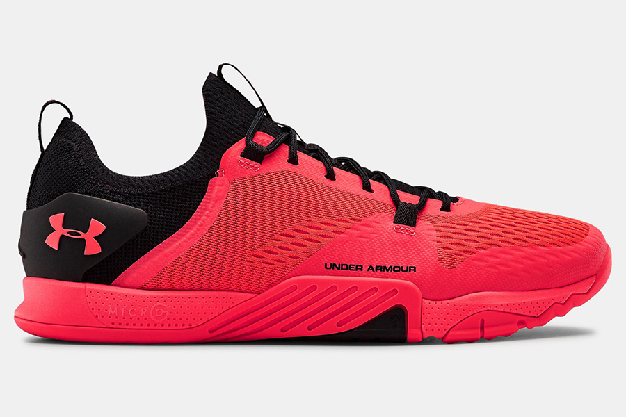 Under Armour training shoe side view