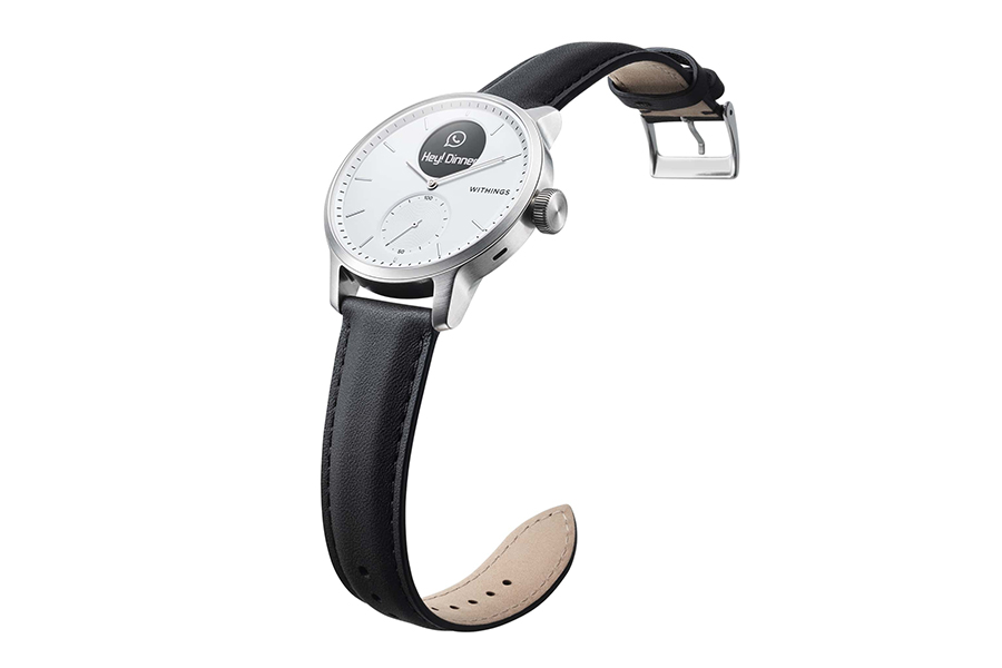 Withings Scanwatch black leather strap