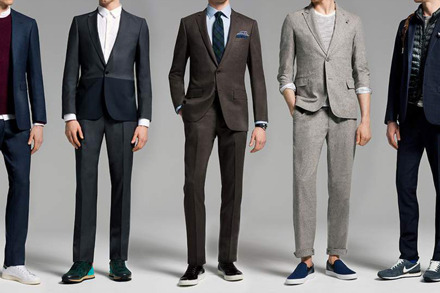 Men in suits and sneakers