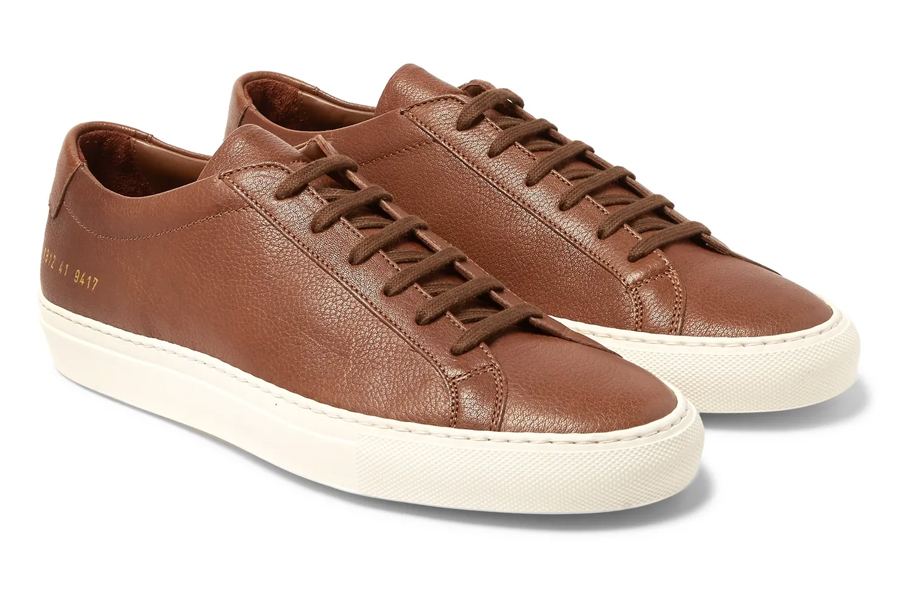Common Projects Achilles Leather Shoes in Brown