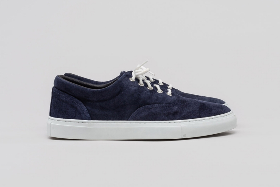 Diemme Iseo Suede and Nappa Leather Sneaker in Navy