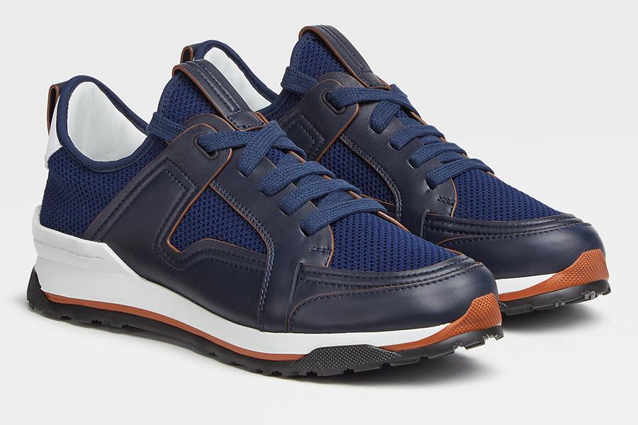 Ermenegildo Zegna Siracusa Sneakers in Navy