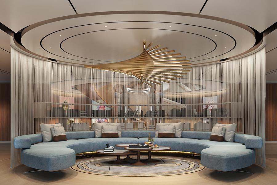 115m Storebreaker Superyacht lounge view