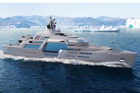 115m Storebreaker Superyacht side view