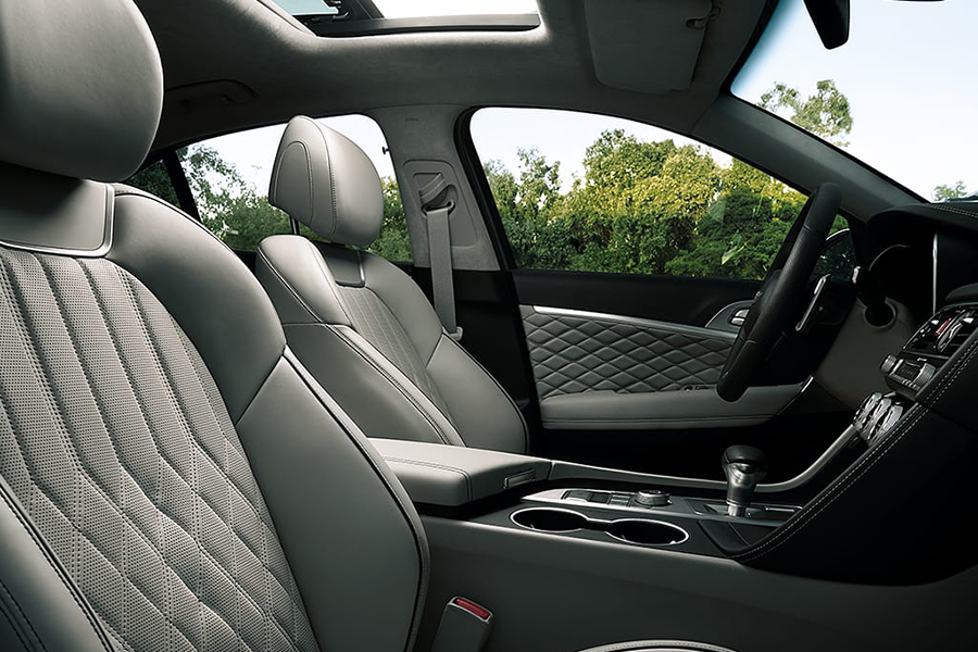 2020 Genesis G70 car seat upholstery