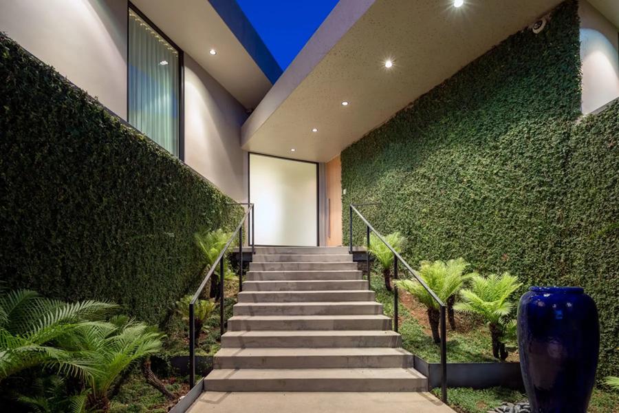 Elon Musk's LA mansion stairway