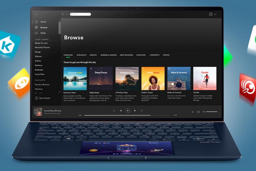 spotify with screenpad