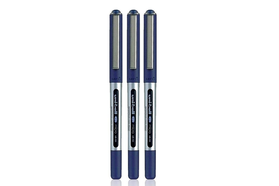 UNI-BALL EYE UB-150 BLUE  MICRO 0.5mm TIP ROLLERBALL PEN