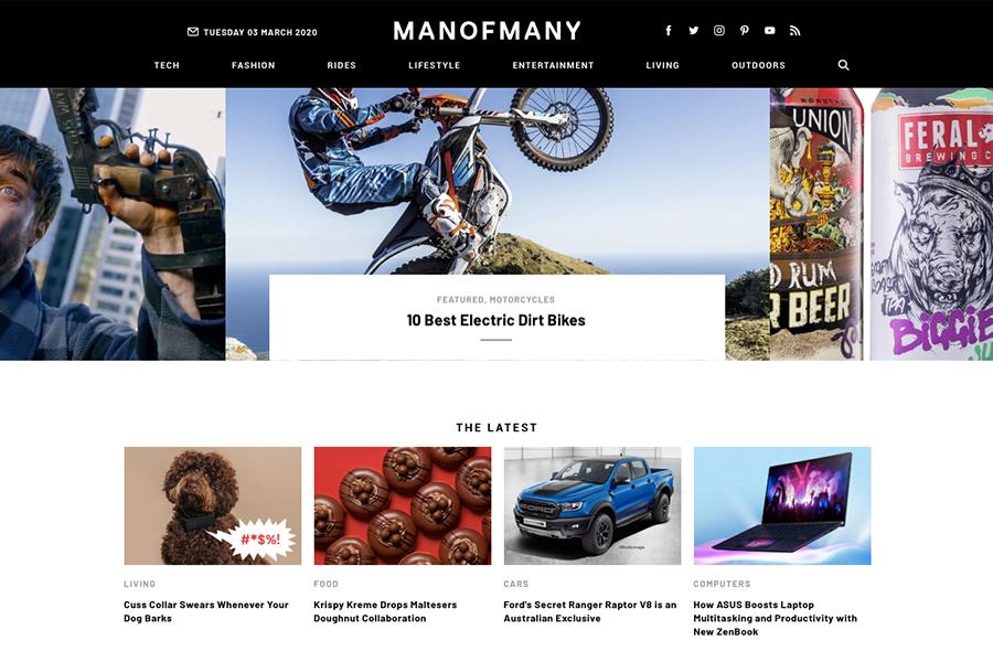 Australian lifestyle blog Man of Many