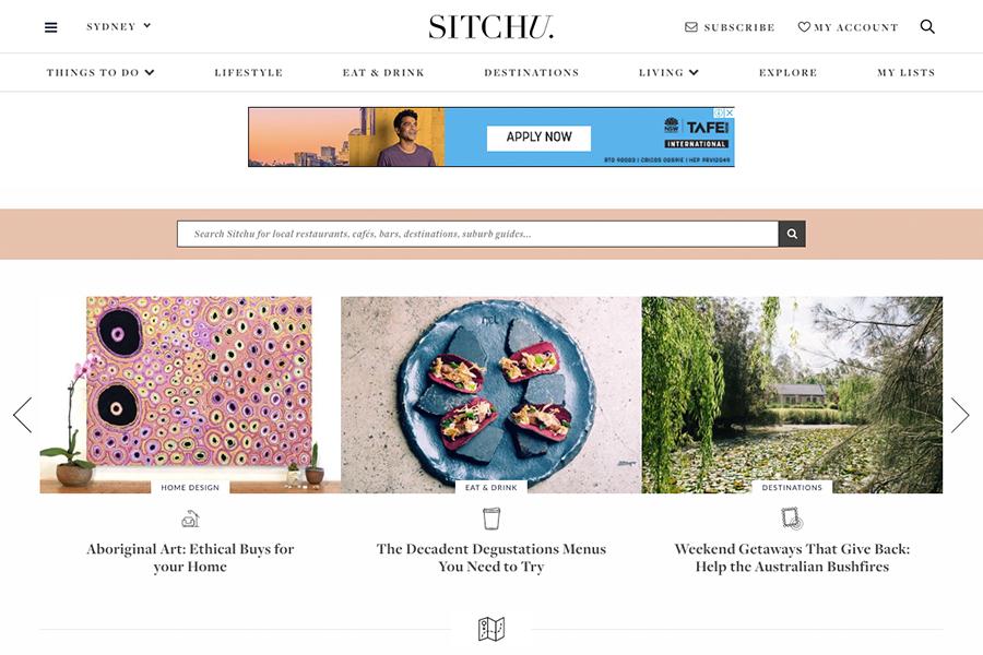 Australian lifestyle blog Sitchu