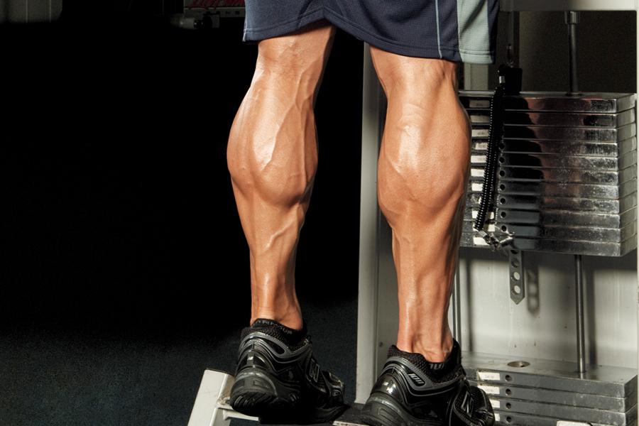 Big calf muscles of a man