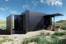 Buhaus Container Homes black design