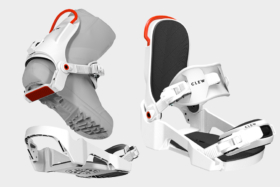 Step in Snowboarding Bindings with and without snowboot