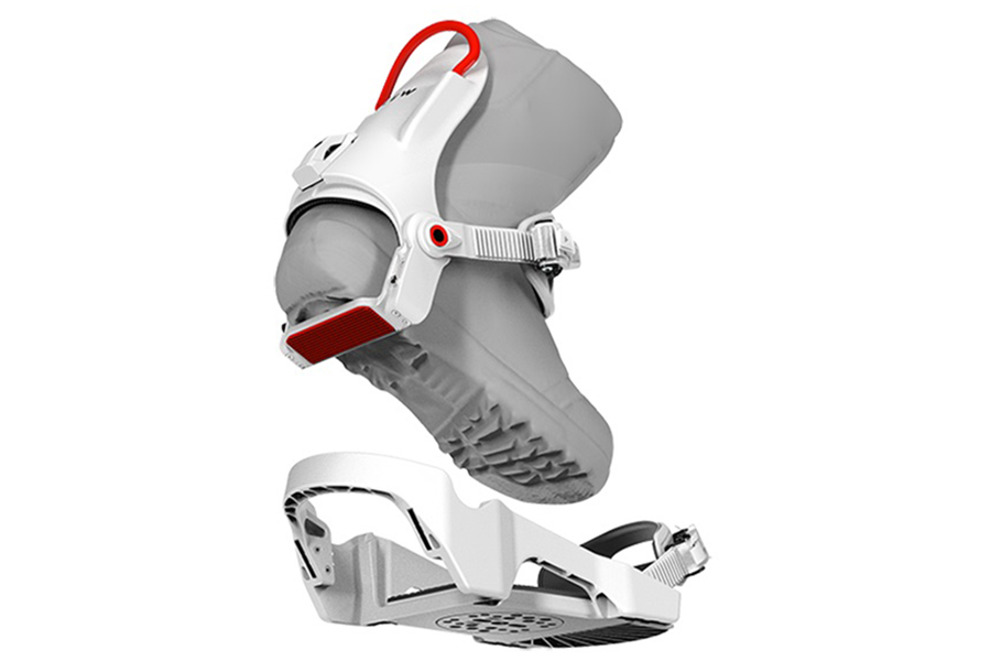 clew Snowboarding Binding back view