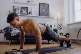 A man doing pushups