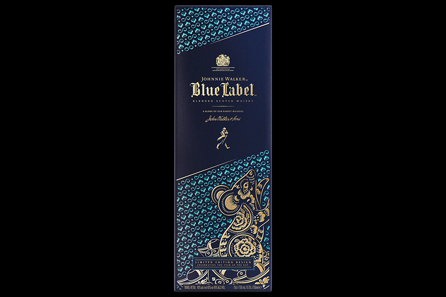 Johnnie Walker's 'Year of the Rat' Limited Edition Blue Label box