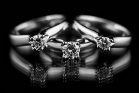 Three KAVALRI engagement rings