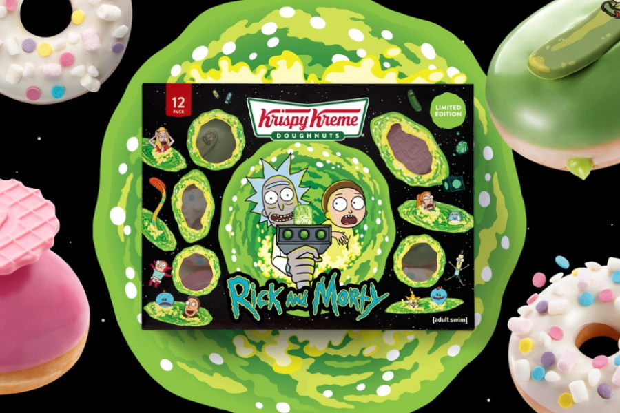krispy kreme rick and morty doughnuts