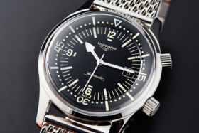 Dial ofThe Longines Legend Diver Watch